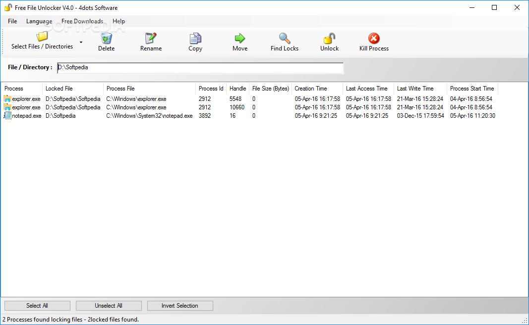 Download Free File Unlocker 5 7