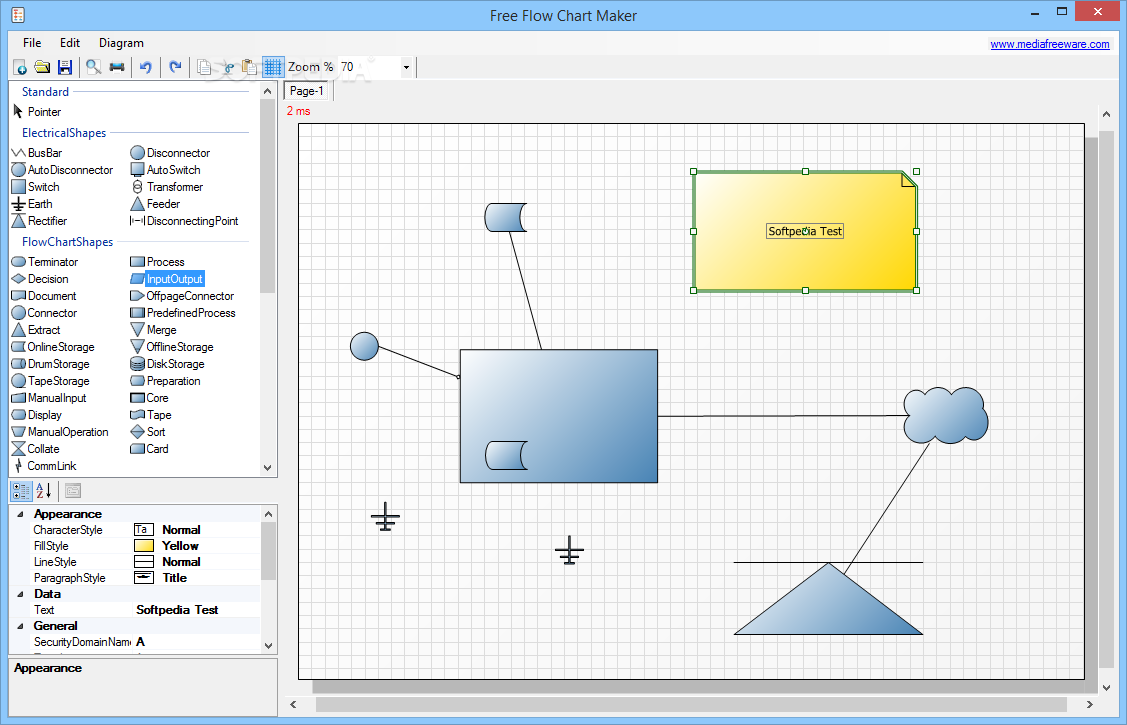 Free Flow Chart Maker The Main Window Of Allows You To