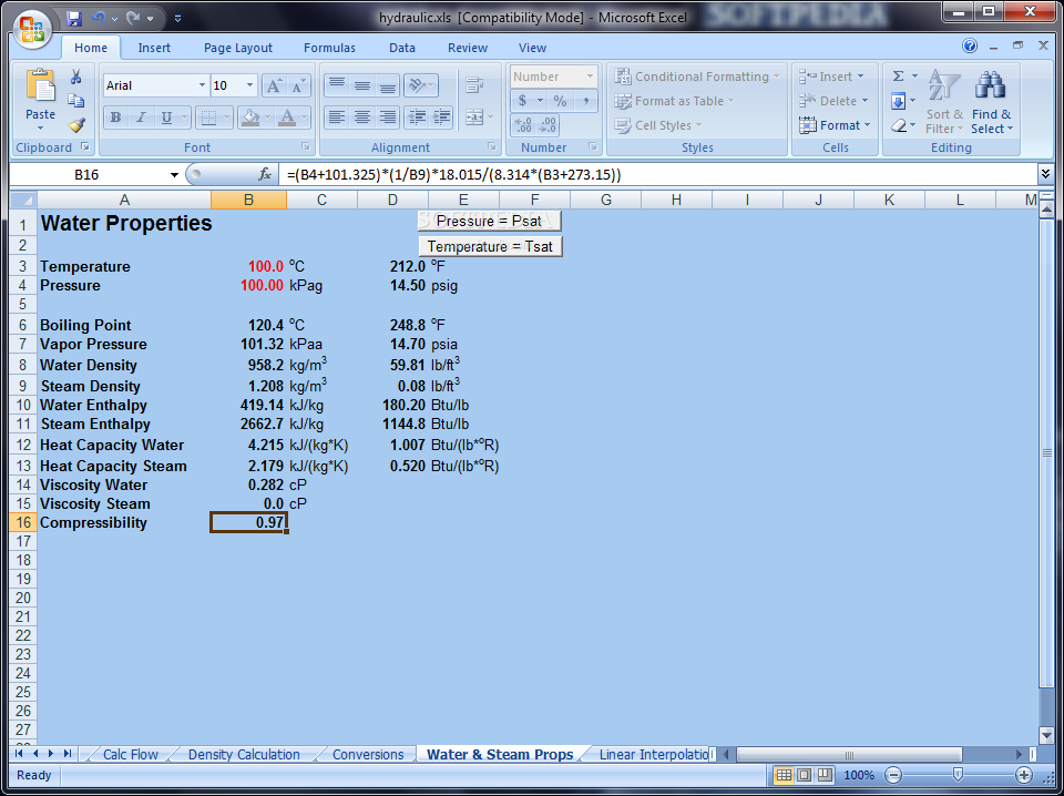 Download Free Hydraulic Calculator For Excel