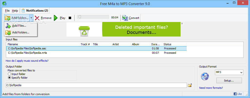 Download Free M4a to MP3 Converter X Build 89