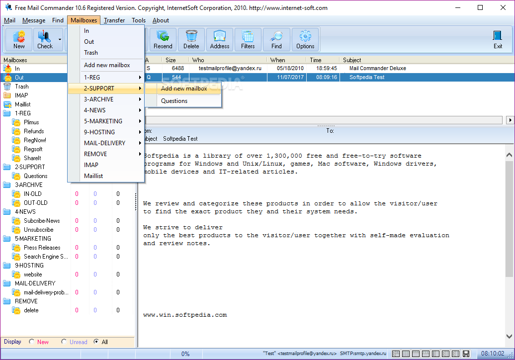 download free mail commander 1061