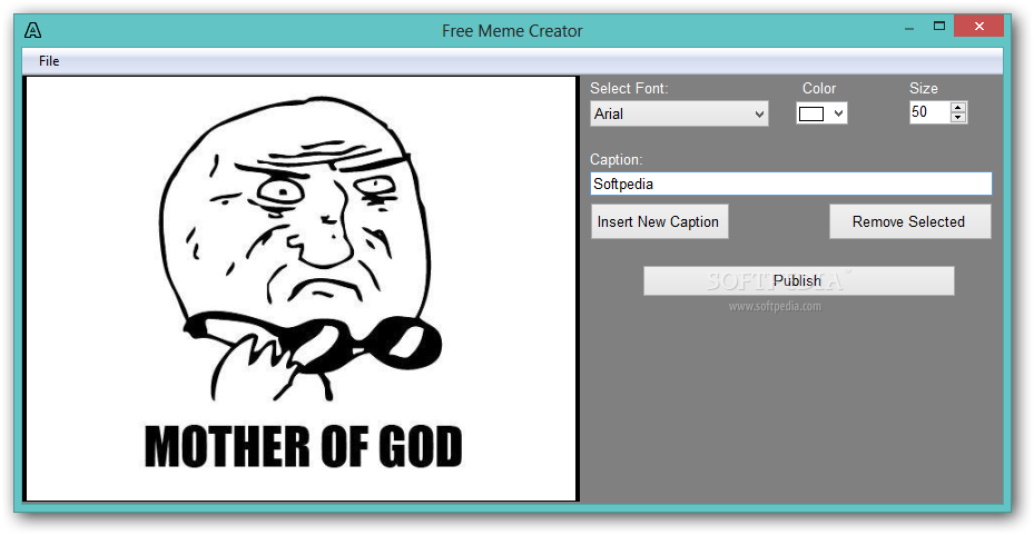 Free Meme Creator Free Meme Creator Allows Users To Add Captions To An Existing Image