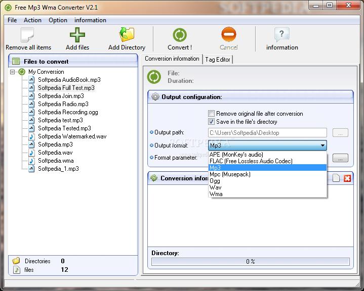 descargar free mp3 wma converter 2.2