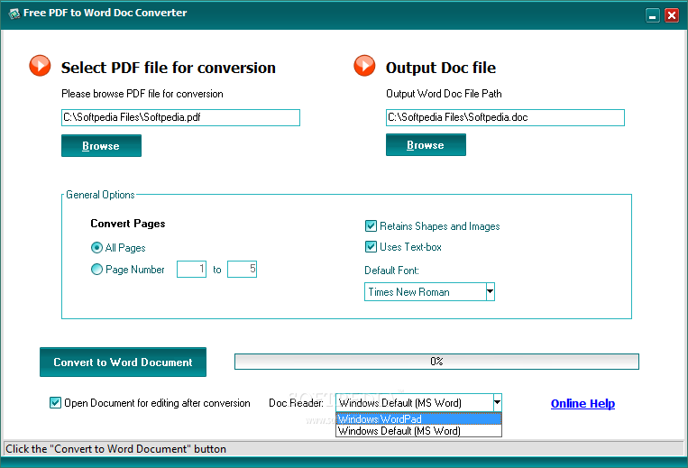 Free pdf to word doc converter download for Document to pdf converter download