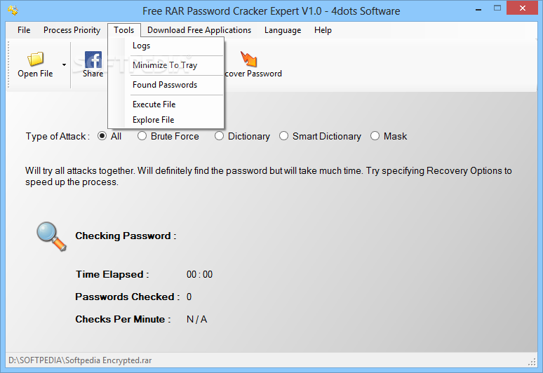 how to crack rar password without brute force