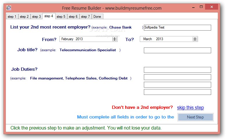Download Free Resume Builder 10 - Step-by-step-resume-builder-for-free