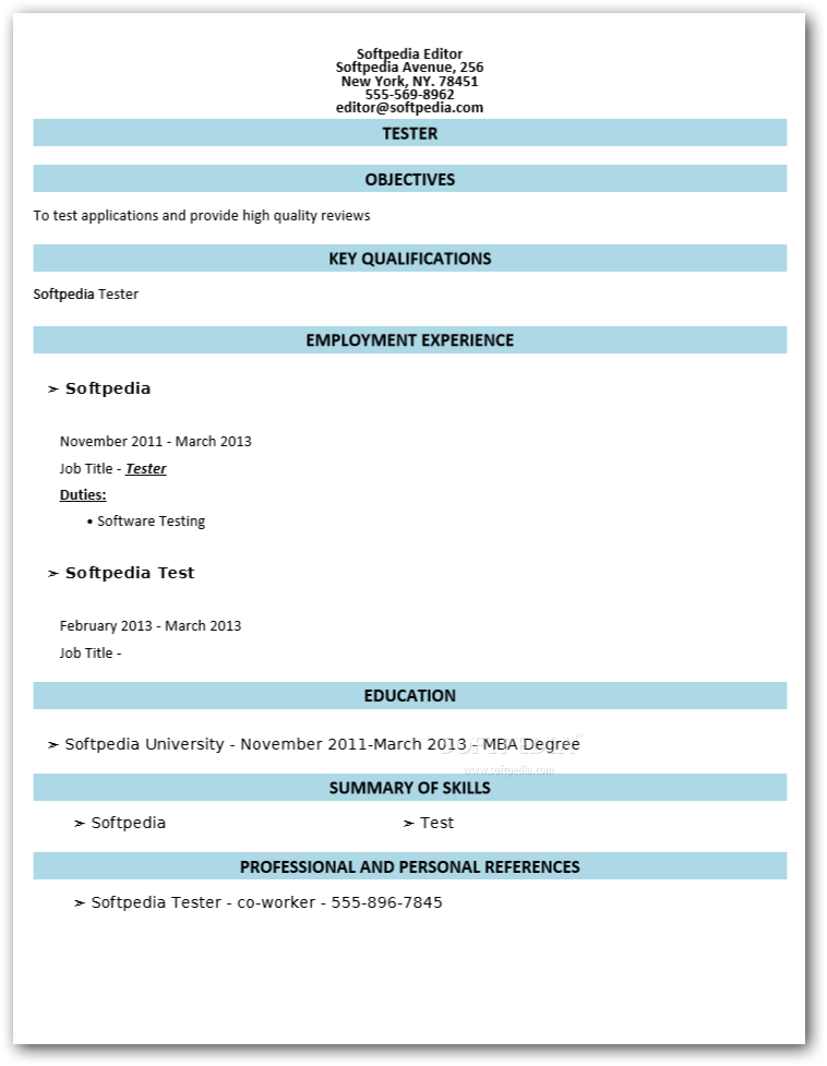 Download Free Resume Builder 1.0