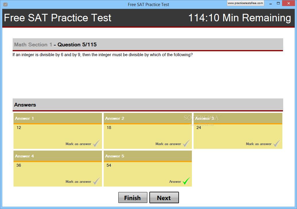 Download Free SAT Practice Test 1 0 0 0