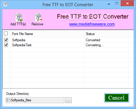 Download Free TTF to EOT Converter 1 0 0 0