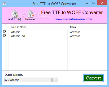 Download Free TTF to WOFF Converter 1 0 0