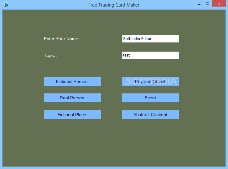 Free Trading Card Maker Download - Place card maker