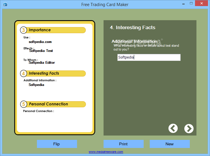 Trading card game maker software