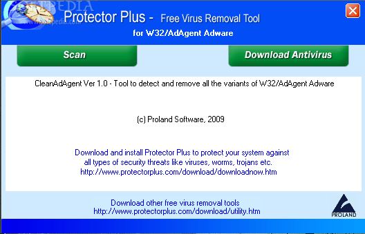 Download Free Virus Removal Tool for W32/AdAgent Adware 1 0