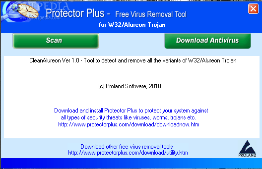 Free Virus Removal Tool for W32/Alureon Trojan Download
