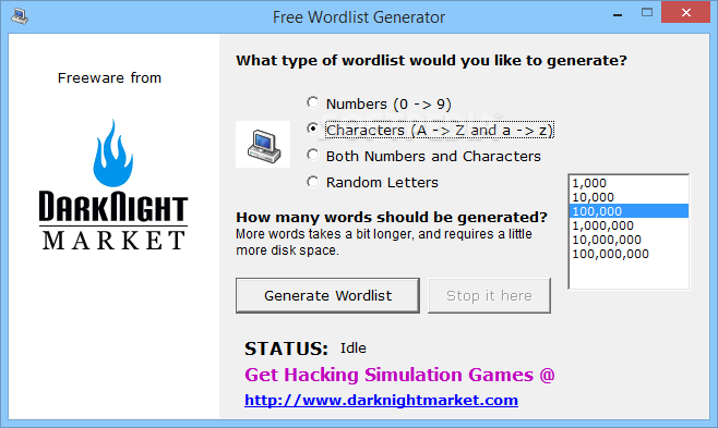 Download Free Wordlist Generator 1 0 9