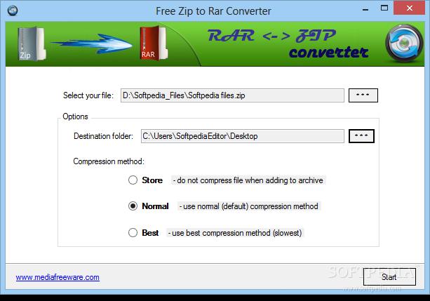 Rar to zip converter download.