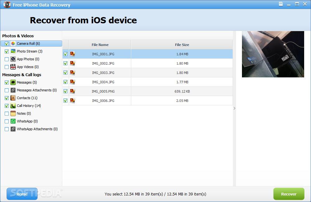 Free iphone data recovery windows