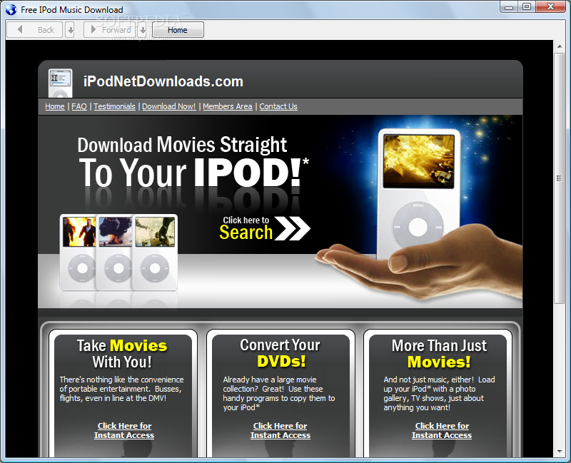 Free Music Downloads On the iPod
