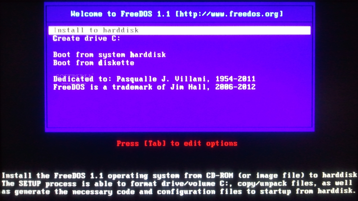Download FreeDOS 1 1 / 1 2 RC