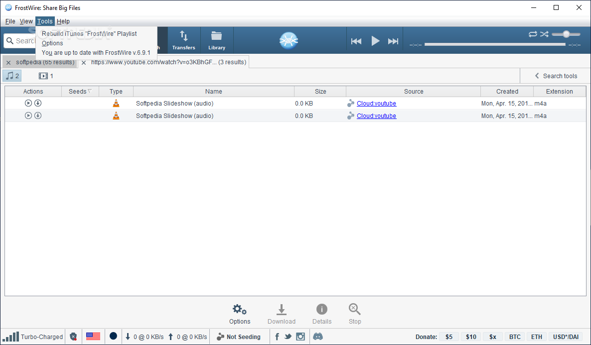 FrostWire Key Features