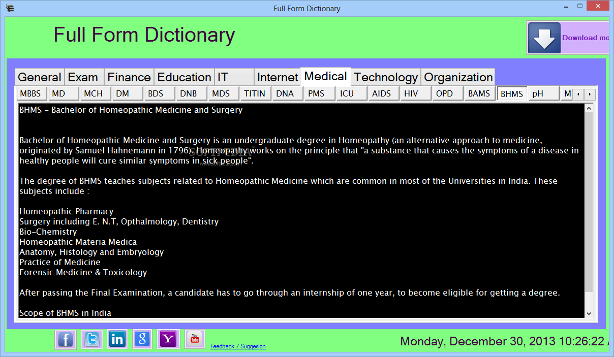 Oxford Dictionary of English Free Download for Windows