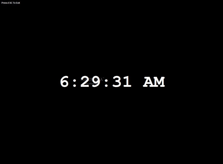 Download Full Screen Digital Clock Software 7 0