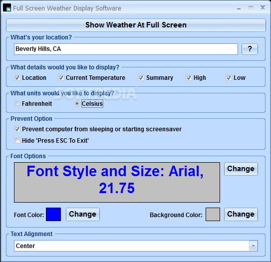 download full screen weather display software 7 0