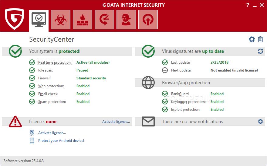 Download G DATA Internet Security 25.5.7.26