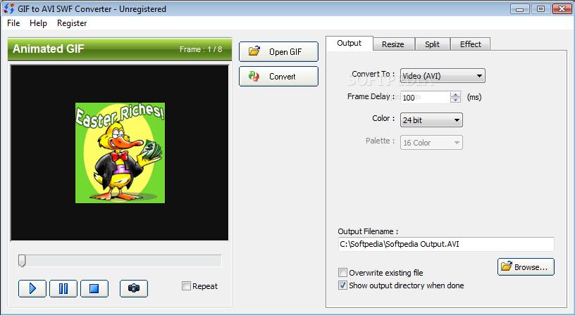Avi gif converter 1. 08 | graphics conversion.