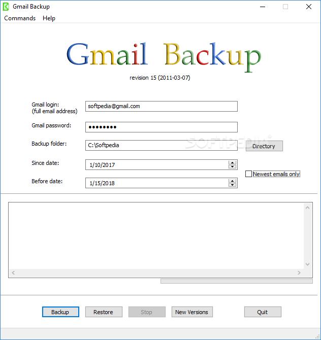 Download GMail Backup Rev 15 (07 03 2011)