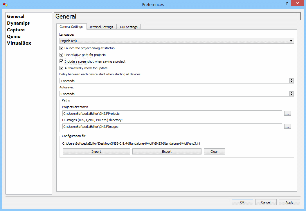 Download GNS3 Portable 0 8 7