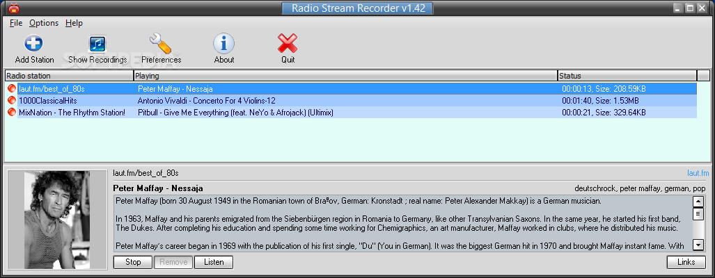 Download GSA Radio Stream Recorder 1 46