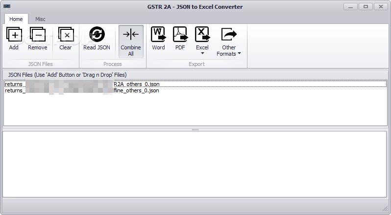 Download GSTR 2A - JSON to Excel Converter 3 0 0