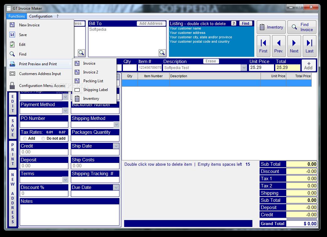 Download GT Invoice Maker 7.02