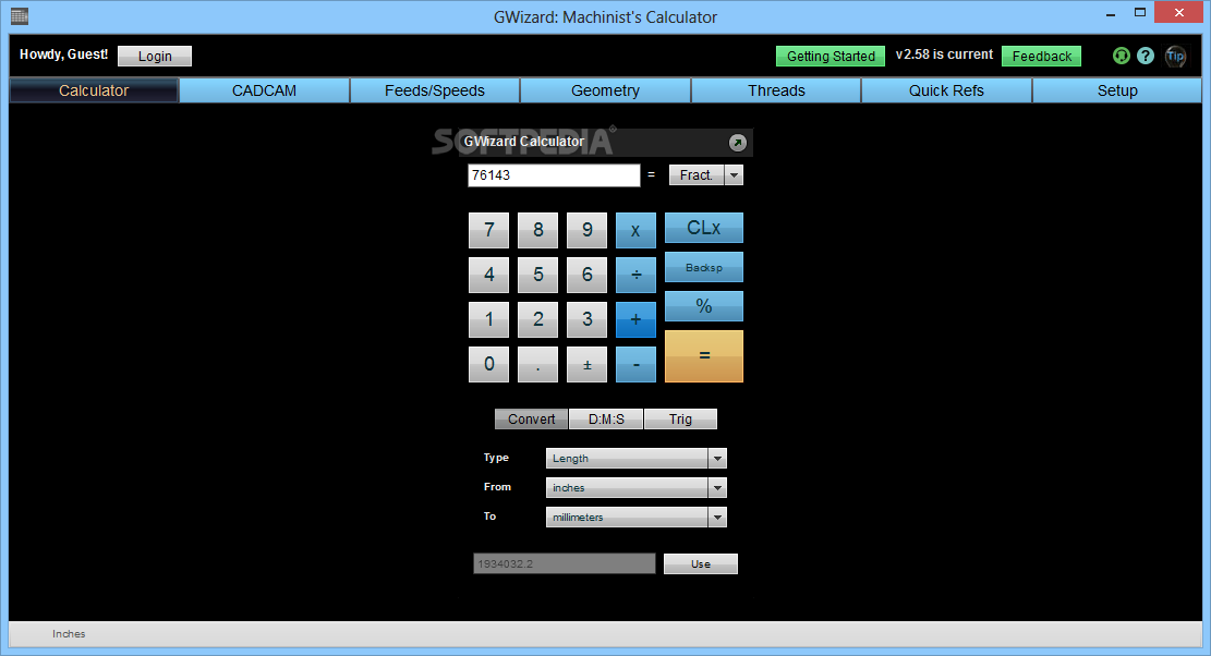 GWizard screenshot 1 - This is the main window of GWizard from where you can access all the features of the application.