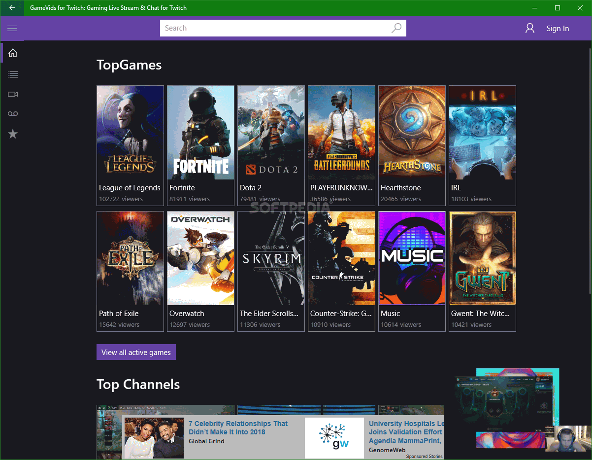 Download GameVids for Twitch: Gaming Live Stream & Chat for Twitch