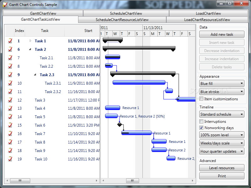 Download Gantt Chart Library 405