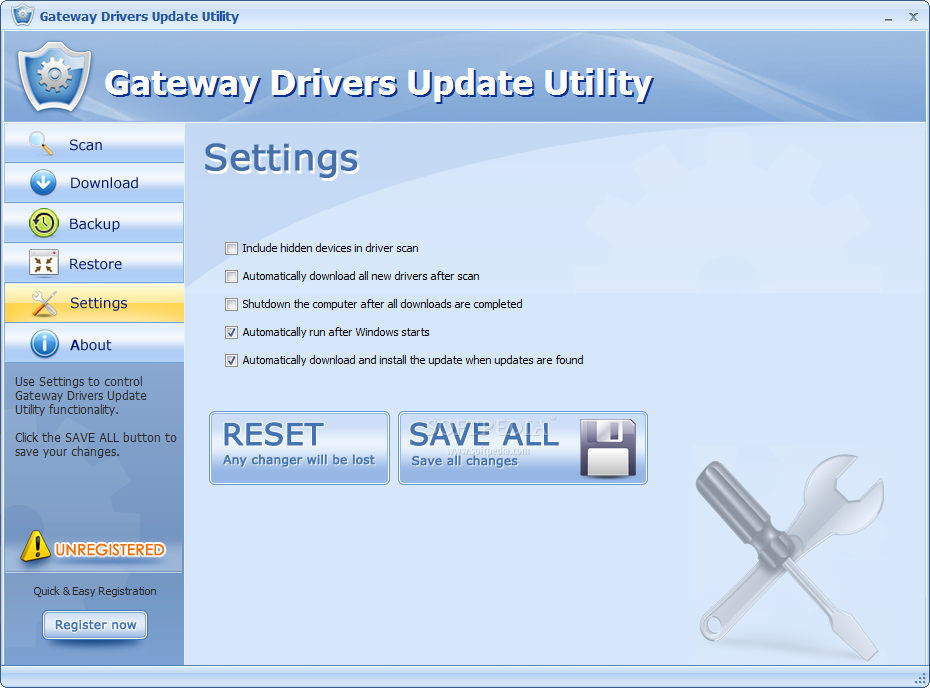 What you need to do before you download and install the Gateway Drivers