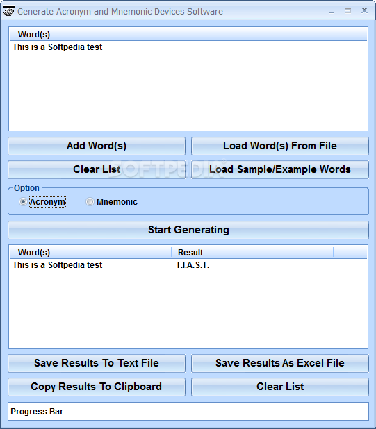 Download Generate Acronym And Mnemonic Device Software 7.0