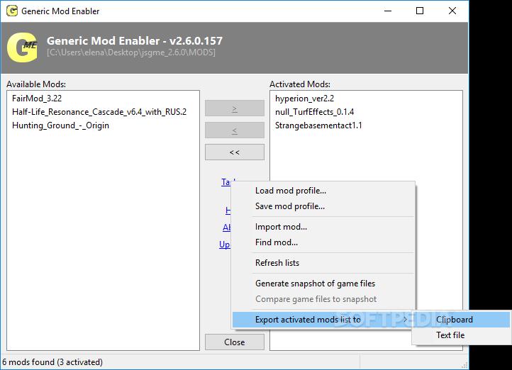Download Generic Mod Enabler (jsgme) 2 6 0 157