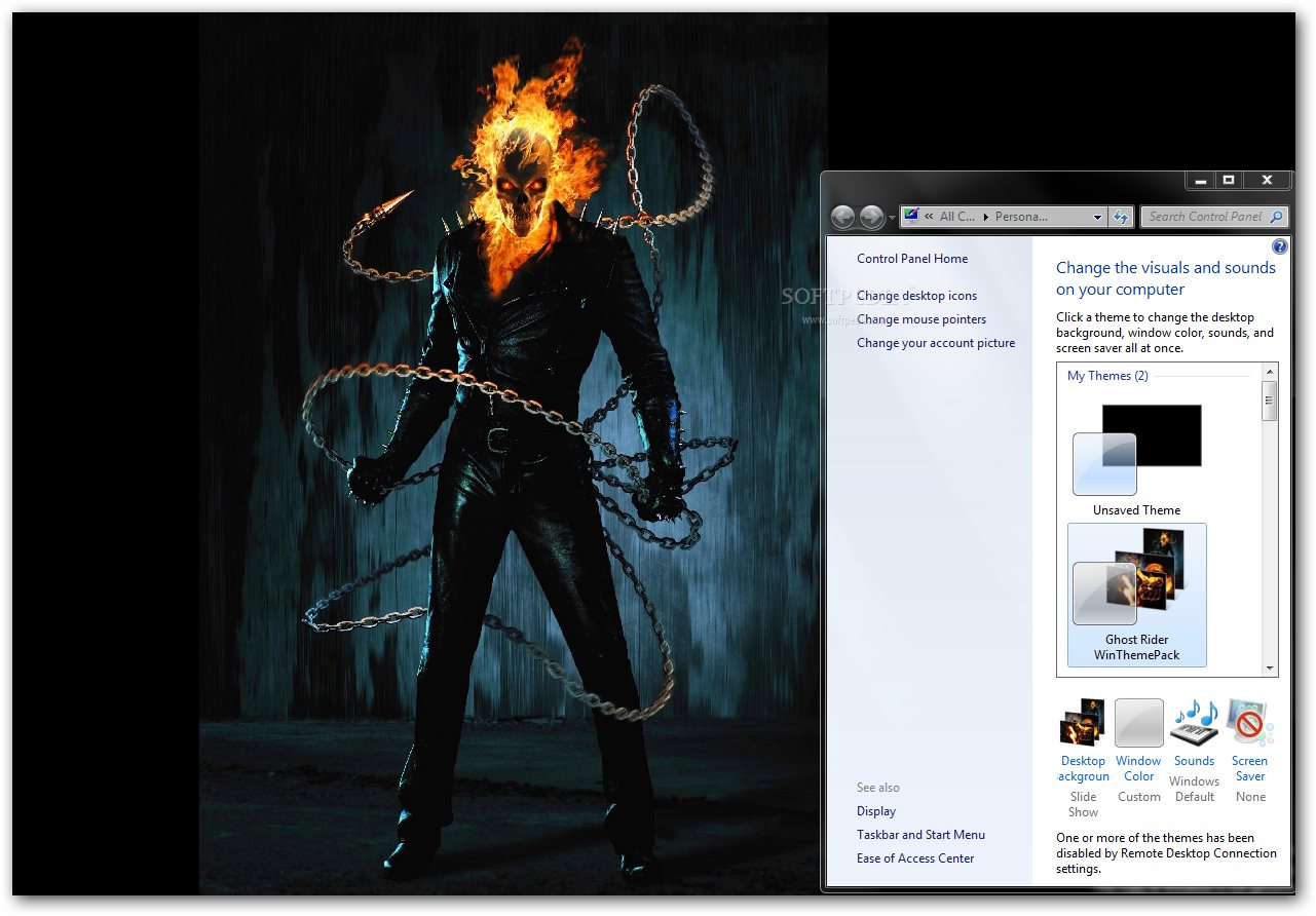 Download Ghost Rider Windows Theme 1 0