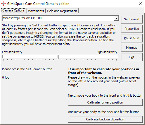 Download GiMeSpace Cam Control 2 0 2 15 / 3 1 6 42 Gamer Edition