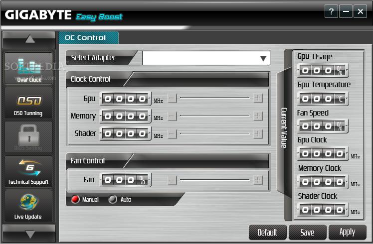 gigabyte video card overclocking software