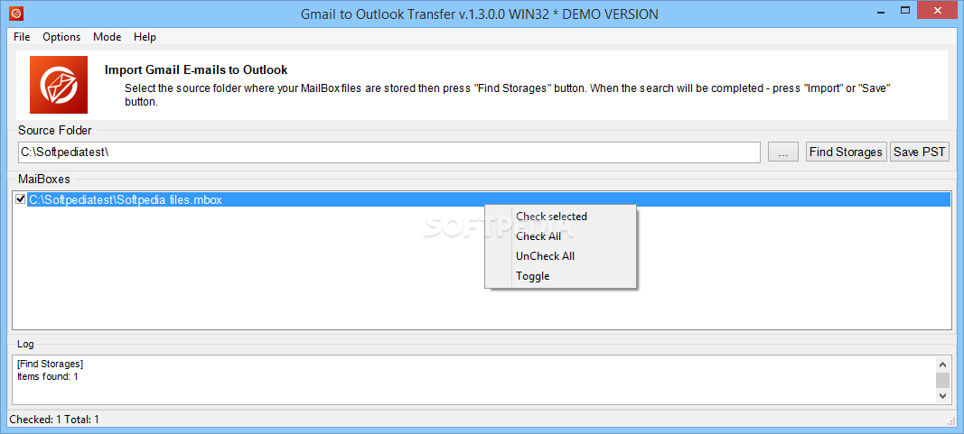 Download Gmail to Outlook Transfer 5 3 3 1