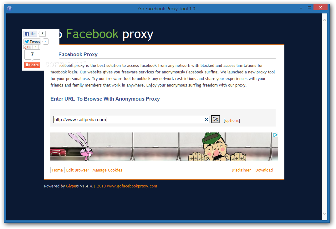 Download Go Facebook Proxy Tool 1 0