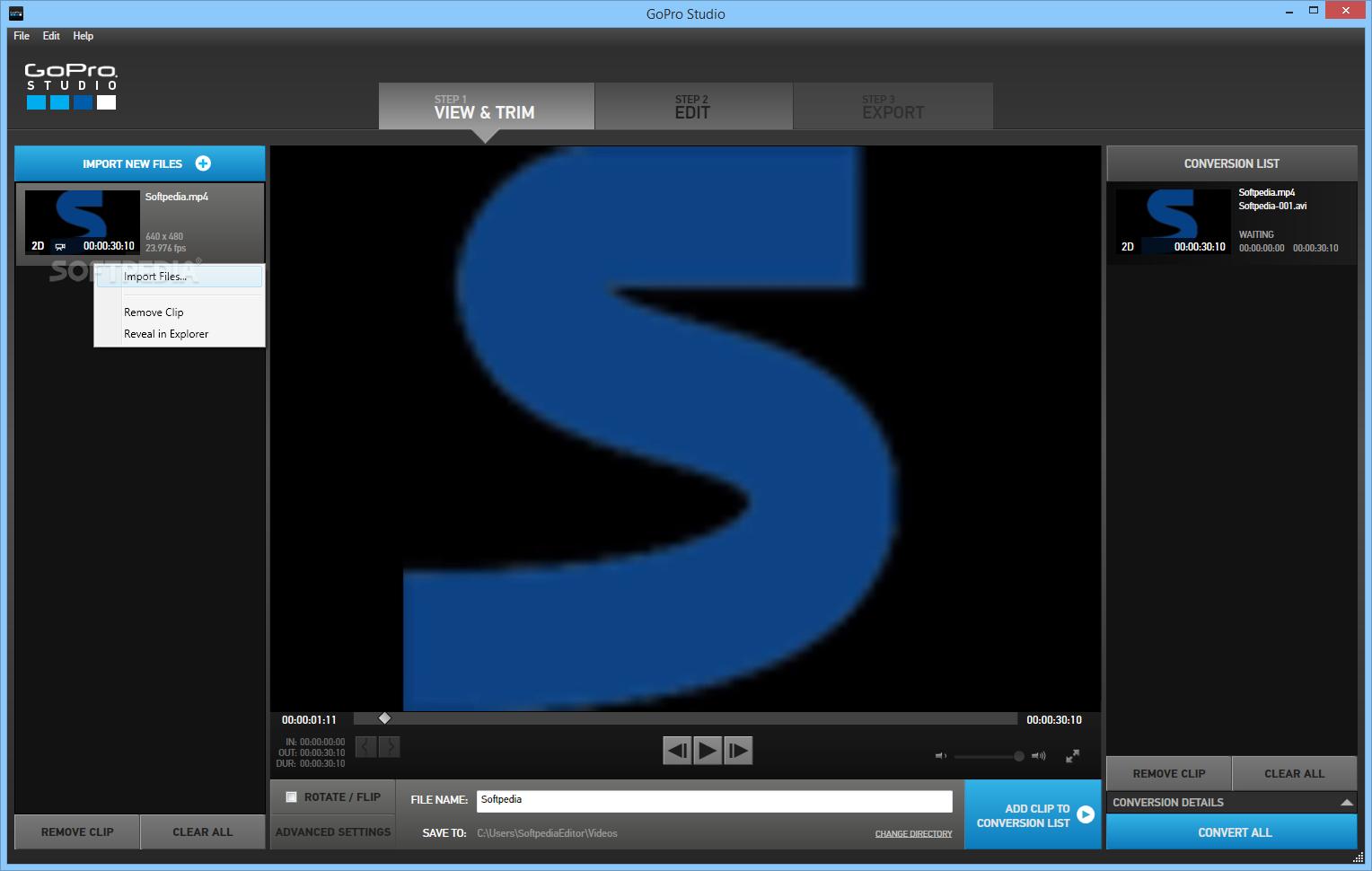 gopro studio 2.5.10