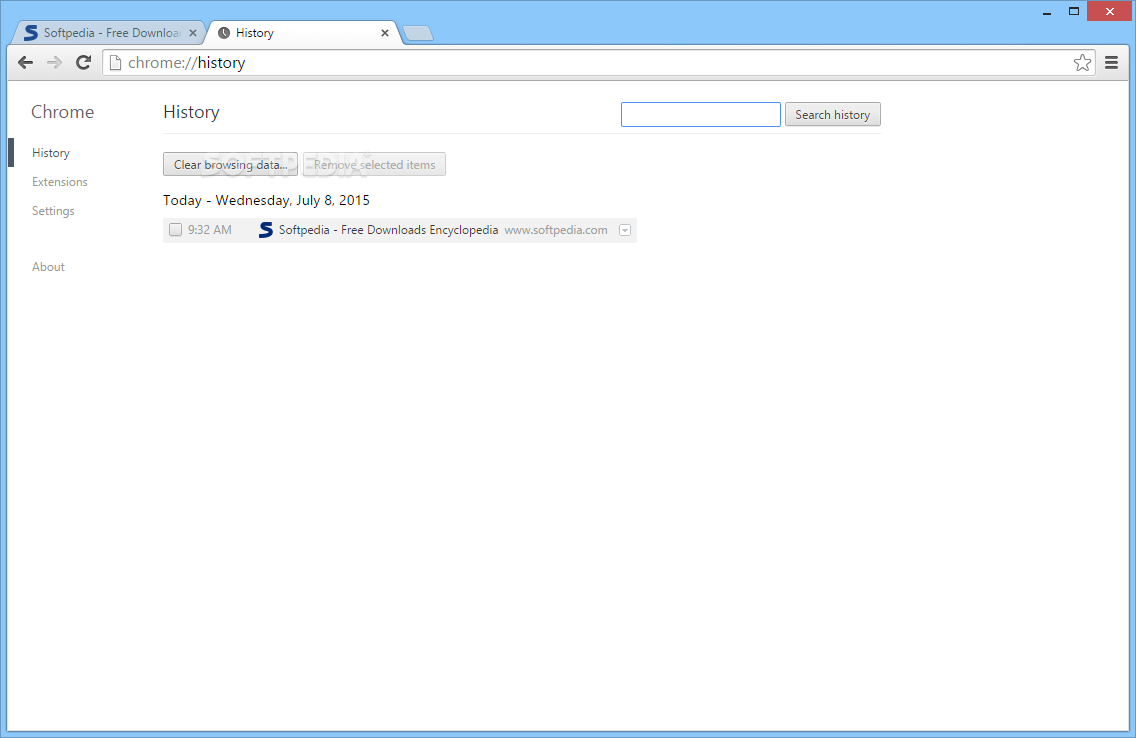 how to search google chrome history by date