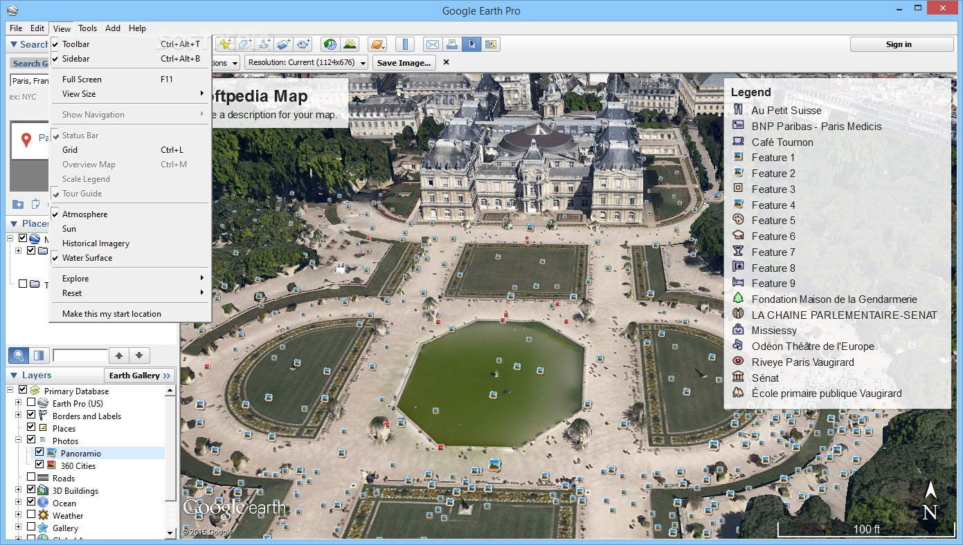 how to take a screenshot on google earth pro