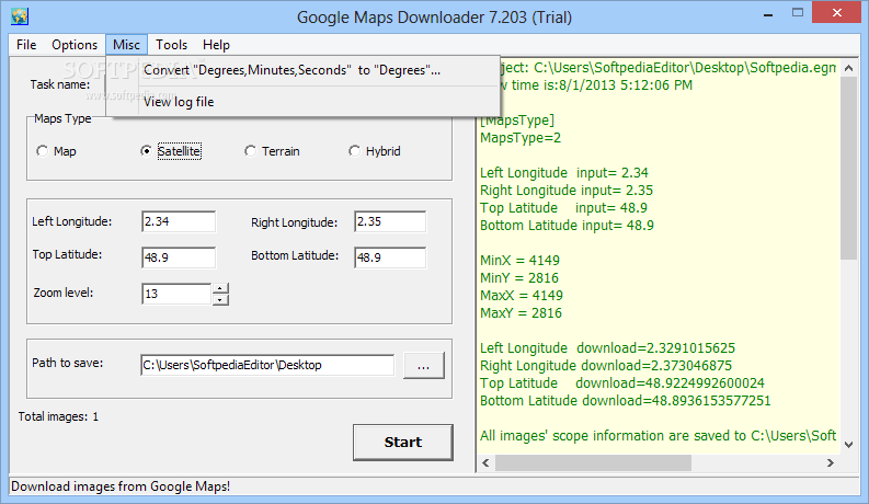 Download Google Maps Downloader 8.778 on