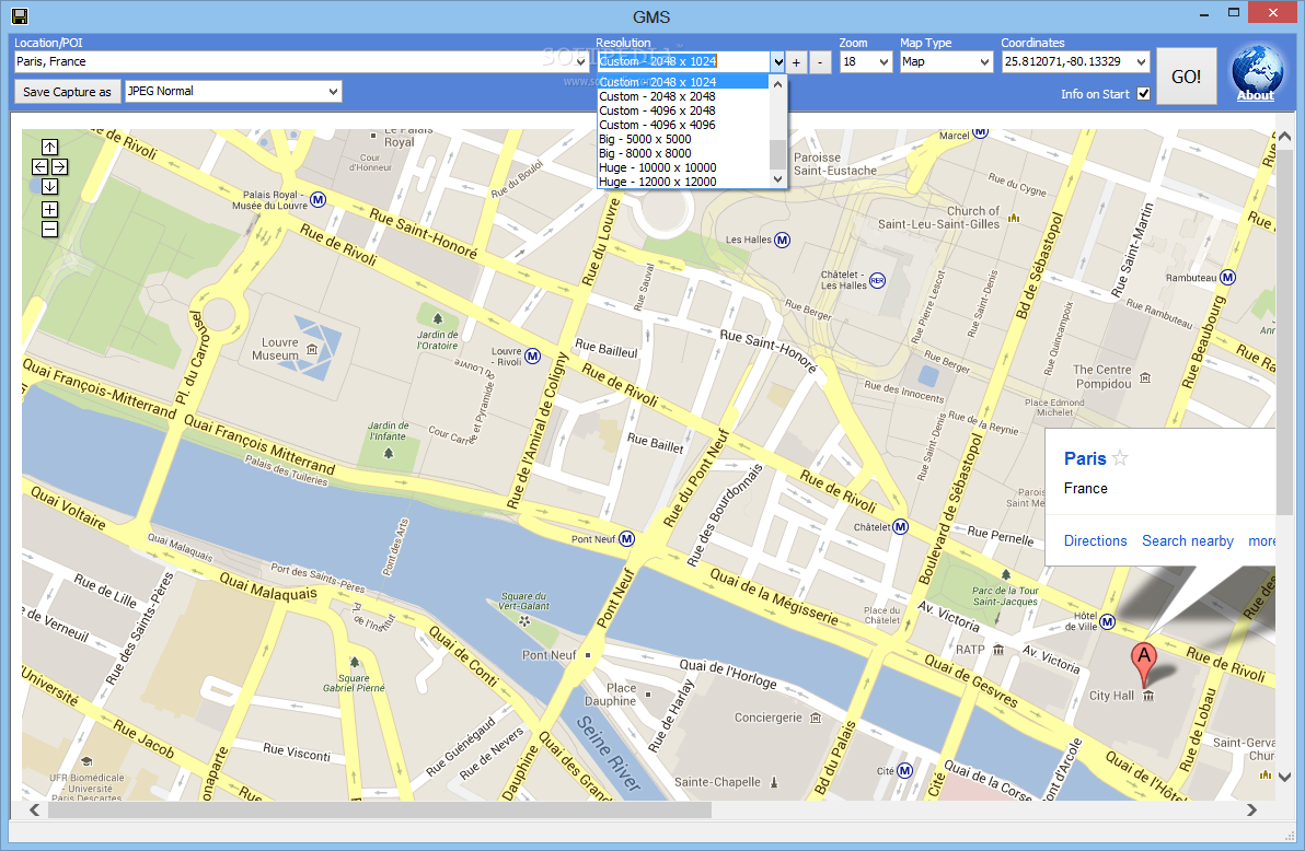 Download GMS (formerly Google Maps Saver) 1 0 3